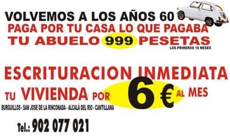 Ofertas novedosas en inmuebles: tu casa por 6 euros