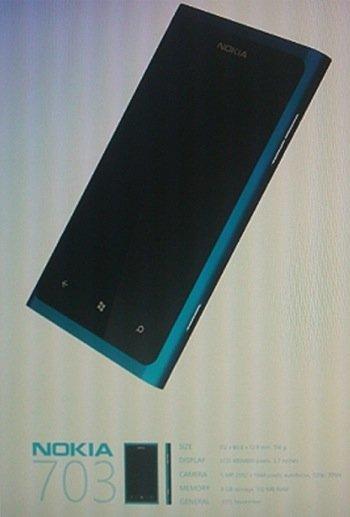 """Nokia 703, """"cuerpazo"""" para el posible primer Nokia Windows Phone"""
