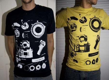 Camiseta 'Camera Parts'