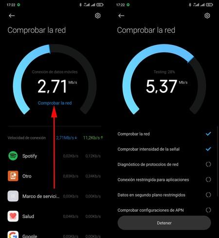 Comprobar Red Xiaomi Miui 2