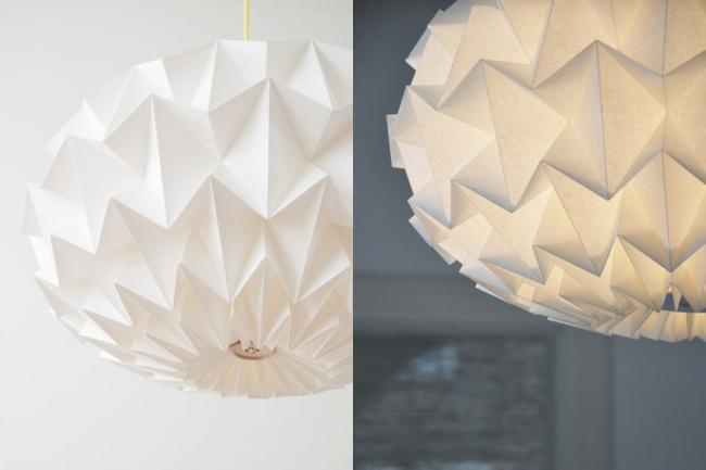 La nueva colecci n de l mparas de papel origami del studio - Lamparas de pie de papel ...