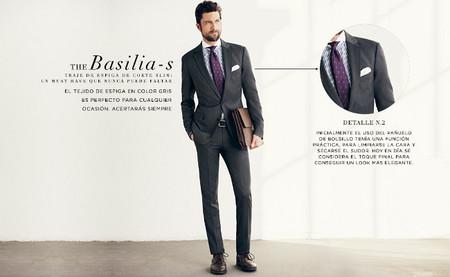 The basilia-s traje gris espiga