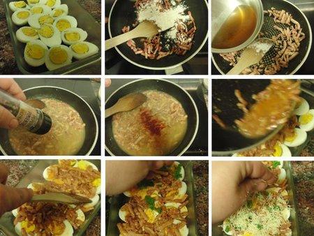 Receta de huevos gratinados