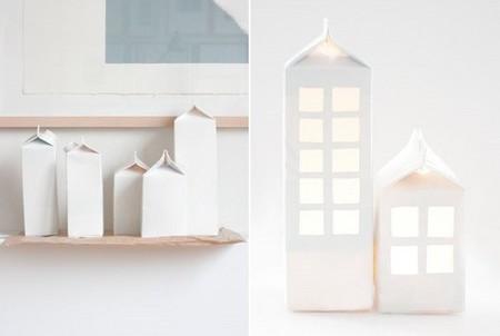 Hazlo tú mismo, una maravillosa casa luminosa a partir de un cartón de leche