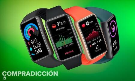 Primer precio mínimo de Amazon para la nueva Huawei Band 6: sólo hoy tienes esta elegante pulsera deportiva por 12 euros menos