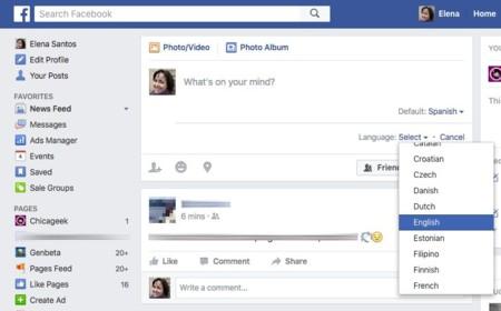 Facebook en varios idiomas