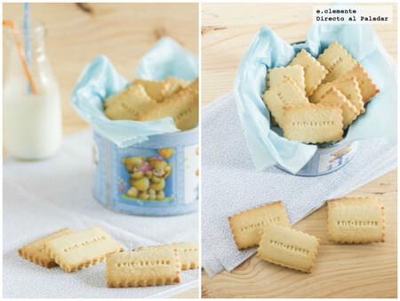 Cómo hacer Petits-beurre caseras, galletas francesas de mantequilla sin huevo