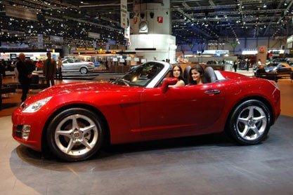 Presentación Opel GT en el salón de Ginebra