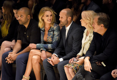 Rosie Huntington Whiteley Jason Statham January Jones And Mario Testino At The Burberry London In Los Angeles Event