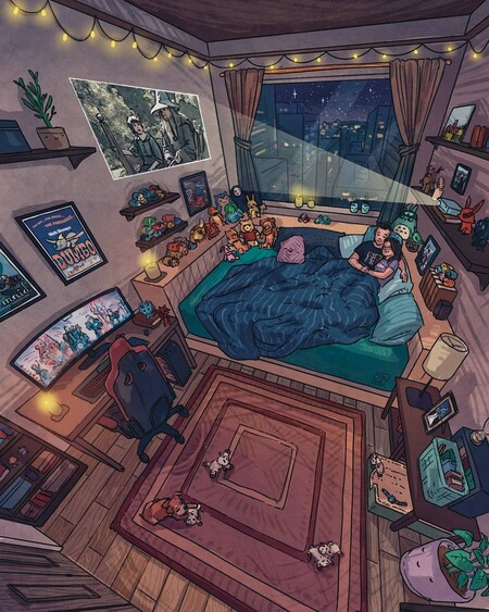 Este artista consigue llenar Instagram de ilustraciones cargadas de detalles que son sinónimo de hogar