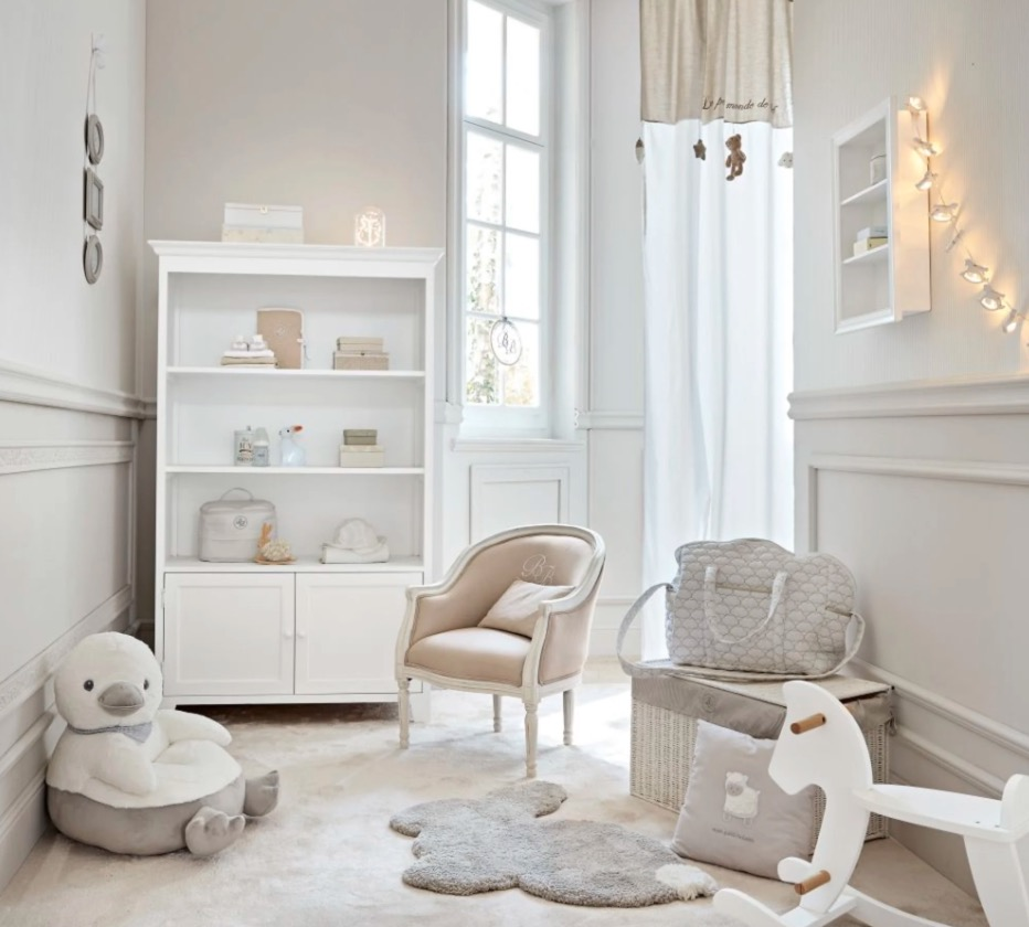 Librería blanca con 2 puertas Saint Honoré