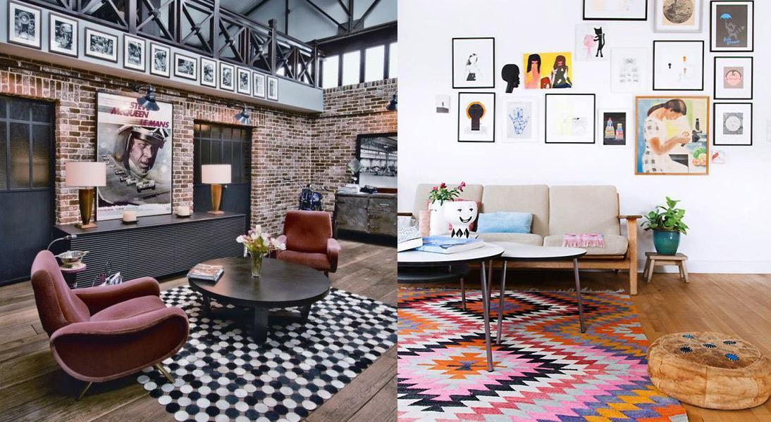 ideas para poner alfombras a lo largo y ancho de toda la casa