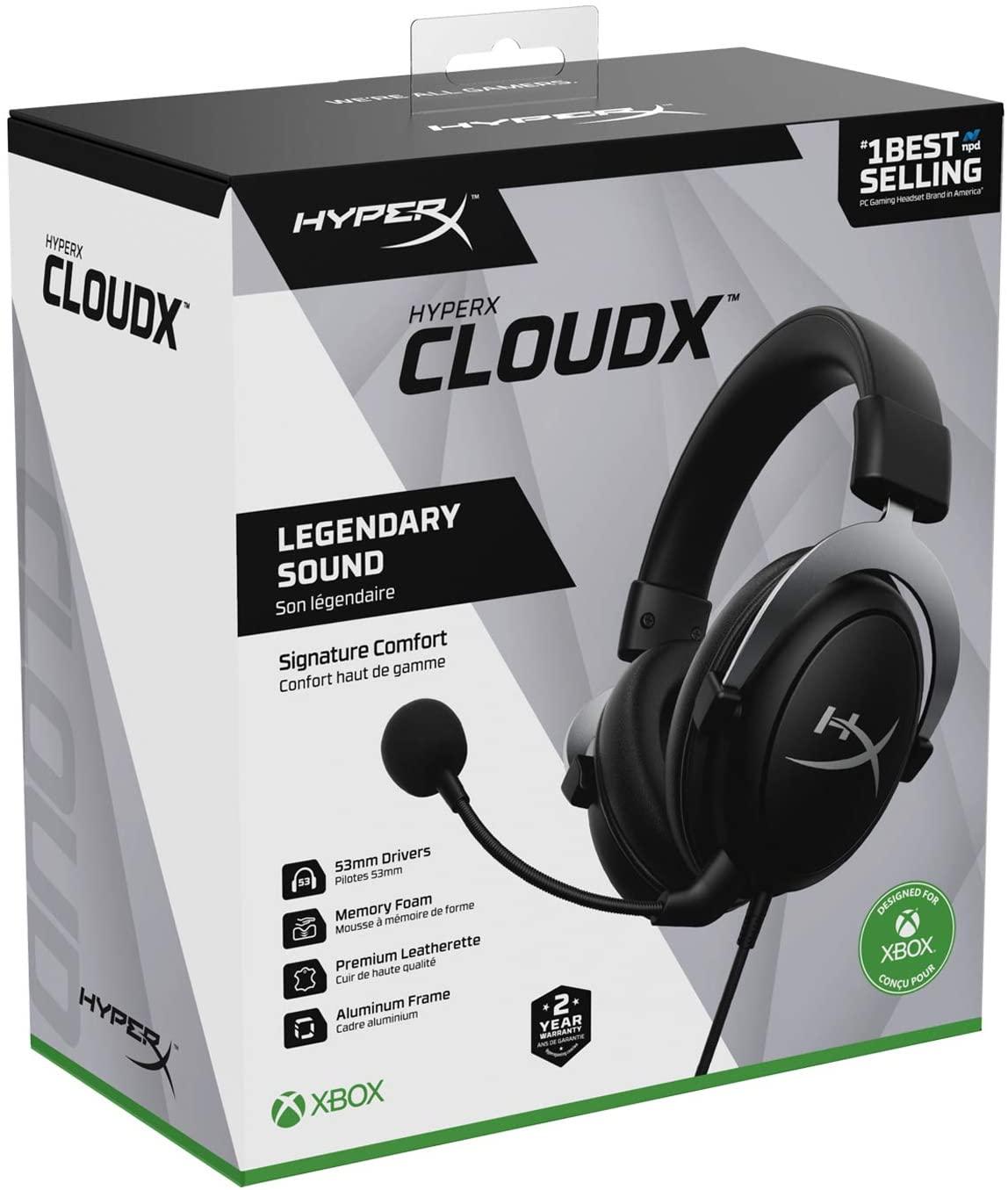 HyperX CloudX Audífonos Gaming con Licencia Oficial Xbox
