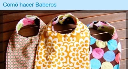 ¿Tienes telas de más y un bebé en casa? ¡Haz baberos!