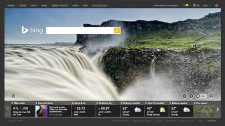 Bing añade a la portada de su buscador tarjetas de información basadas en nuestros intereses