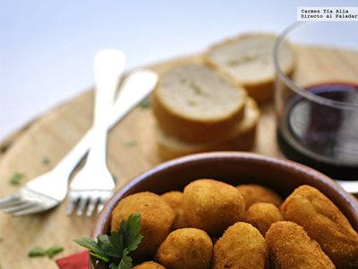 Croquetas de patata y bacalao. Receta
