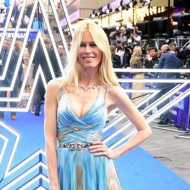 Así es el precioso vestido de unicornio que Claudia Schiffer llevó en el estreno de Rocketman