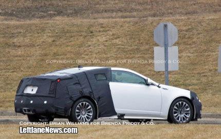 Nuevas fotos espía del Cadillac CTS Coupe