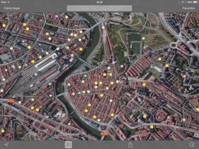 En iOS, la aplicación más usada de Mapas es la de la propia Apple