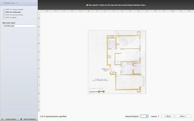 Configurando nuestro mapa para poder realizar el estudio en NetSpot