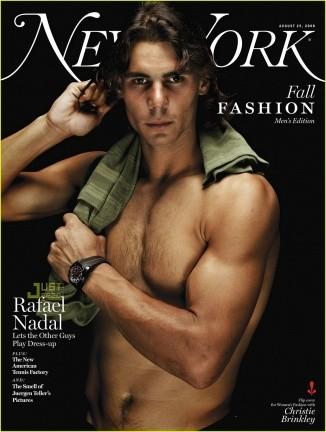 Rafa Nadal impresionante en New York Magazine