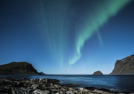 Aurora Borealis Lofoten Norway Night