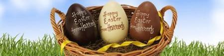 Huevos de Pascua personalizados en Harrods