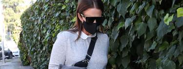 El look premamá más cómodo de Paula Echevarría: vestido y zapatillas blancas