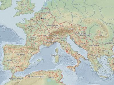Mapeando el pasado: así era la red de carreteras y ciudades del Imperio Romano