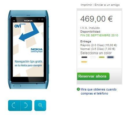 Nokia N8 aparece en la tienda online Nokia española: 469 euros