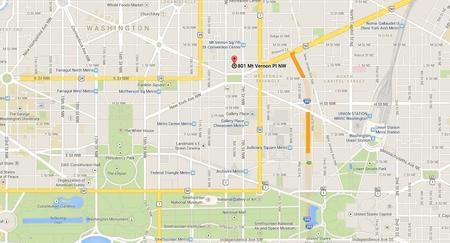 Mapa para llegar al Walter E. Washington Convention Center