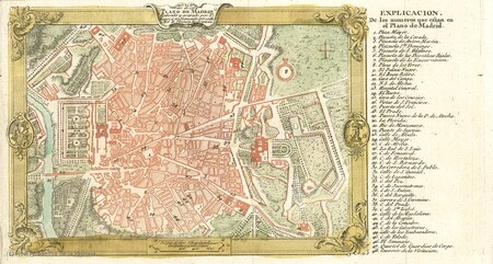 Plano Madrid 1762