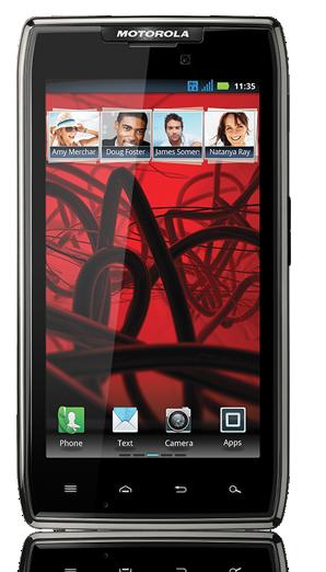 Motorola RAZR maxx de frente