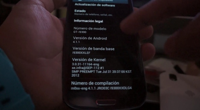 Android Jelly Bean Galaxy SIII