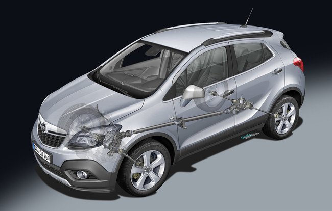Opel Mokka 2012 sistema de tracción