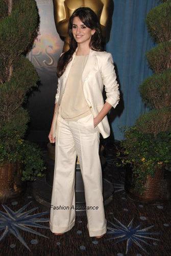 El look de Penélope Cruz en la comida de los nominados al Oscar