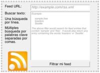 Feed Sifter, generando un feed con contenidos filtrados del feed original