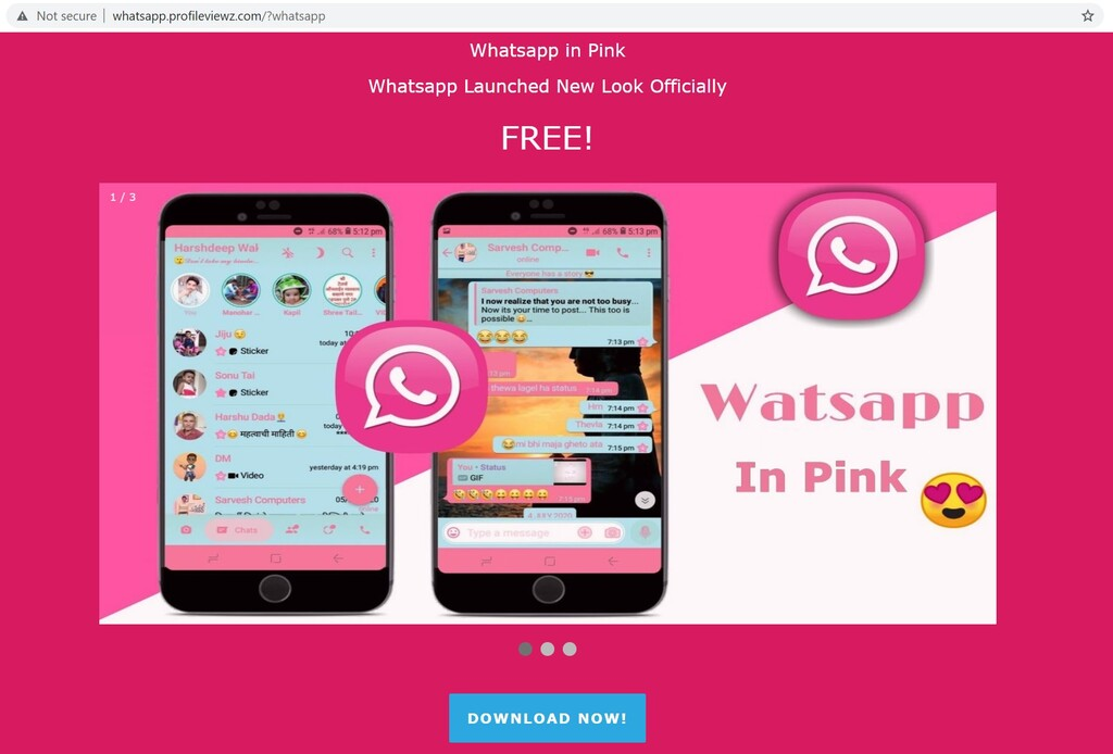 Mucho cuidado con WhatsApp rosa, es una app maliciosa que toma el control de tu teléfono