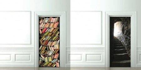 Ilusiones ópticas para tu puerta en forma de vinilo decorativo