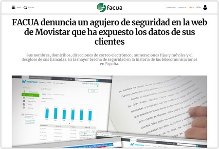 Facua Movistar Brecha De Seguridad Facturas