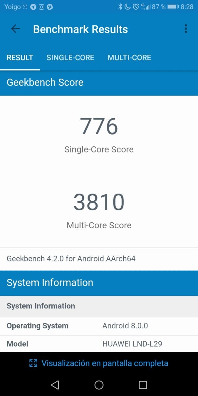 Benchmarks Honor 7C