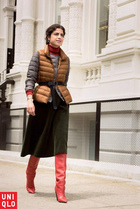 Las madrileñas están de acuerdo en que este chaleco, este jersey, estos pantalones y esta camiseta térmica son las mejores prendas de Uniqlo