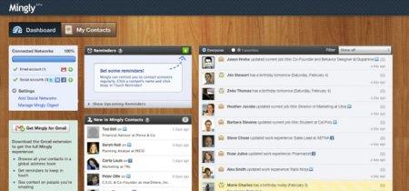 Ming.ly te ayuda a conocer la información de tus contactos en las redes sociales y Gmail
