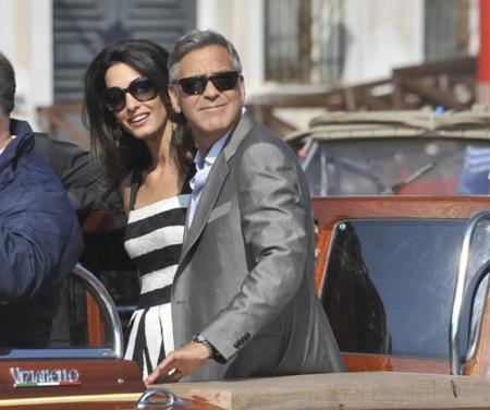 George Clooney y Amal Alamuddin empiezan con Dolce&Gabbana su preboda