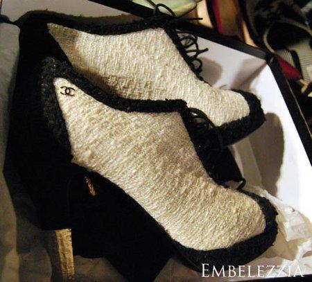 Zapatos de domingo, botines Chanel