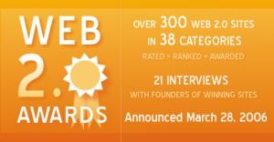 Web 2.0 Awards, los ganadores de 300 servicios 2.0 en 38 categorías