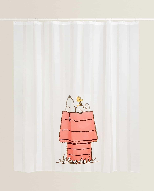Cortina de baño Snoopy