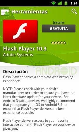 Flash Player 10.3, actualización para corregir errores en algunos móviles