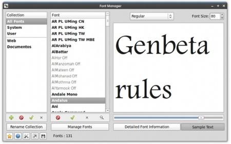 Font Manager: un buen gestor de tipografías para GNOME