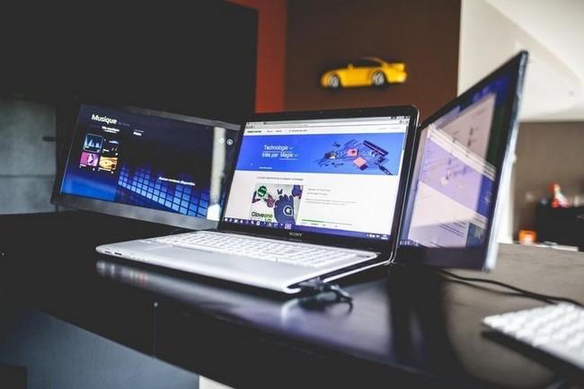 Con Sliden'Joy podrás agregar dos pantallas extra a tu portátil